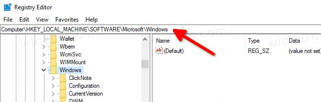Open Registry Key Directly Windows 10