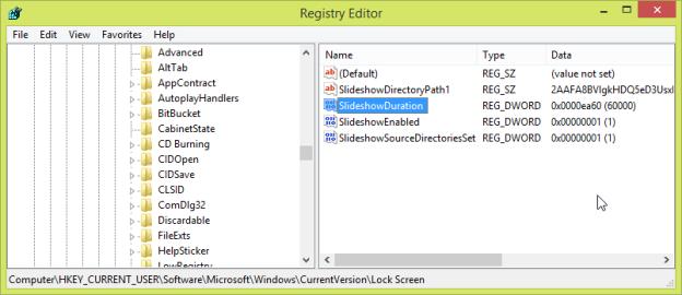 Как ограничить время, в течение которого работает Слайдшоу экрана блокировки Windows 8.1