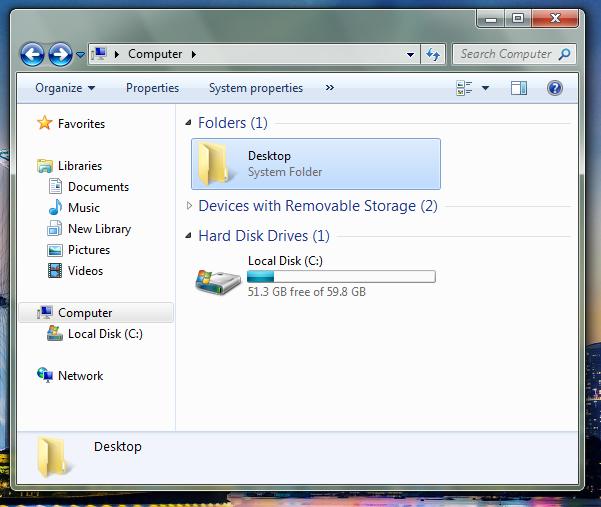 Computer with Desktop