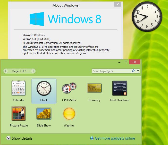 Гаджеты Windows 8