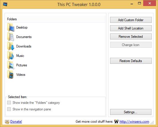 This PC Tweaker 1.0.0.0