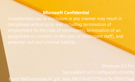 Microsoft Confidential watermark