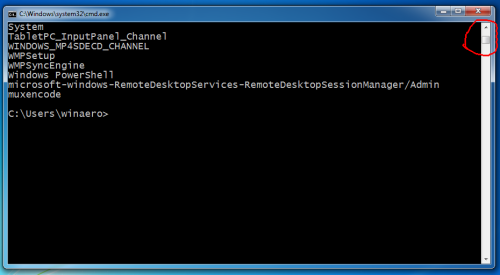 cmd with scroll