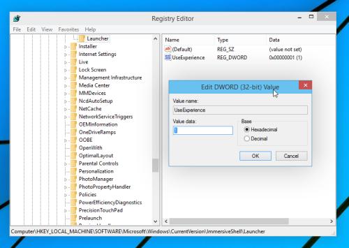 enable continuum windows 10