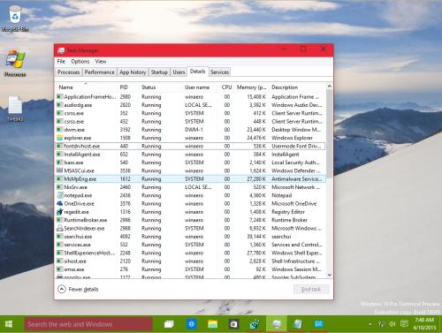 windows 10 taskbar window frame different colors