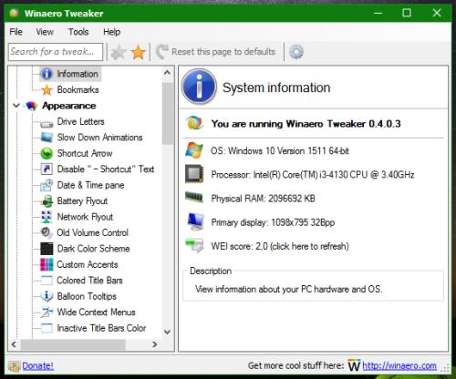 Winaero Tweaker 0.4.0.3