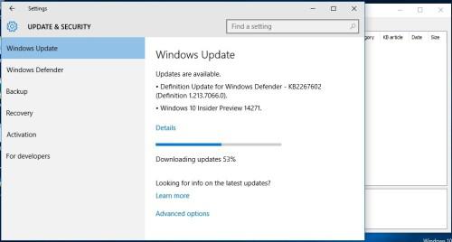 Windows 10 build 14271 download update