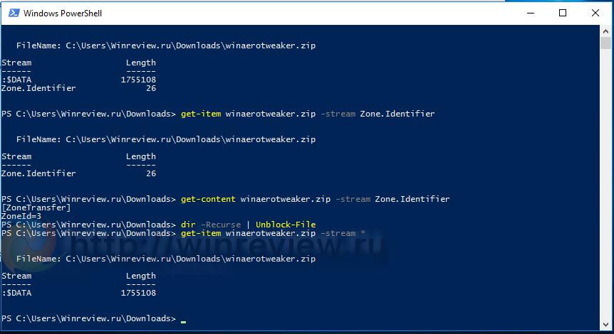 Windows 10 unblock file ps