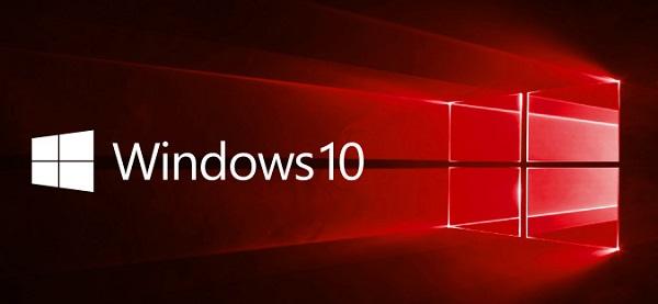 windows 10 logo banner red