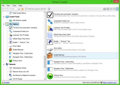 new file explorer category