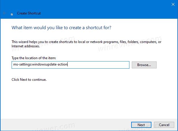 Как создать ярлык для проверки обновлений в Windows 10