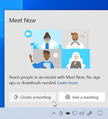 Как отключить кнопку Собрание в панели задач Windows 10