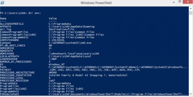Как найти значения всех переменных среды в Windows 10