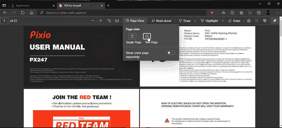 Как включить двухстраничный просмотр PDF в Microsoft Edge