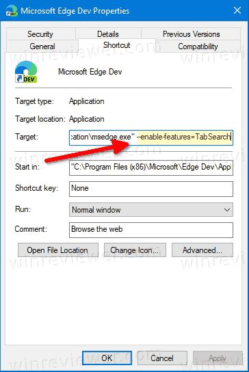 Enable Tab Search In Microsoft Edge