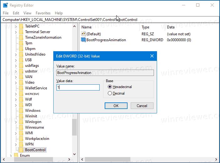 включить анимацию загрузки из Windows 10X в Windows 10