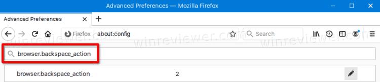 параметр browser.backspace_action