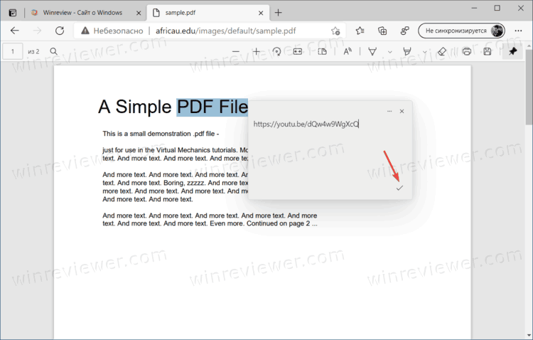 Add Video Comment To Pdf In Edge 4