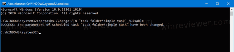 Schtasks Disable Scheduled Task In Command Prompt