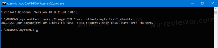 Schtasks Enable Scheduled Task In Command Prompt