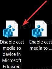 Отключить кнопку трансляции медиа в Microsoft Edge