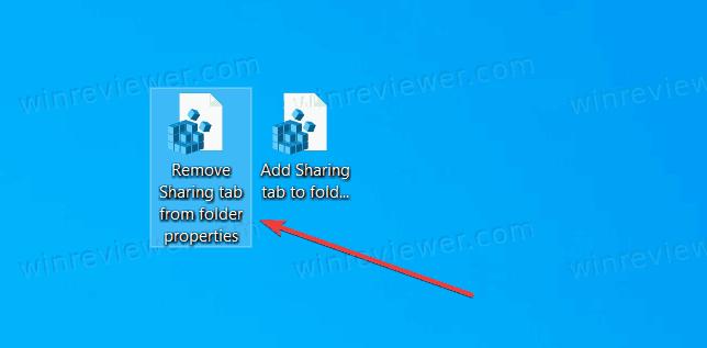 Файл реестра для удаления вкладки Доступ из свойств папки