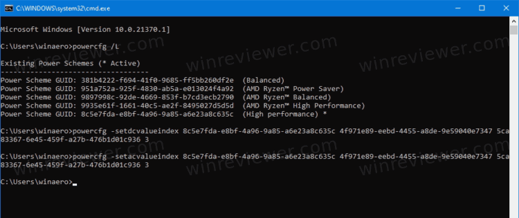 Set Lid Close Action For Specific Power Plan In Command Prompt