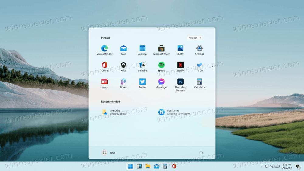 Windows 11 иконки на панели задач по центру