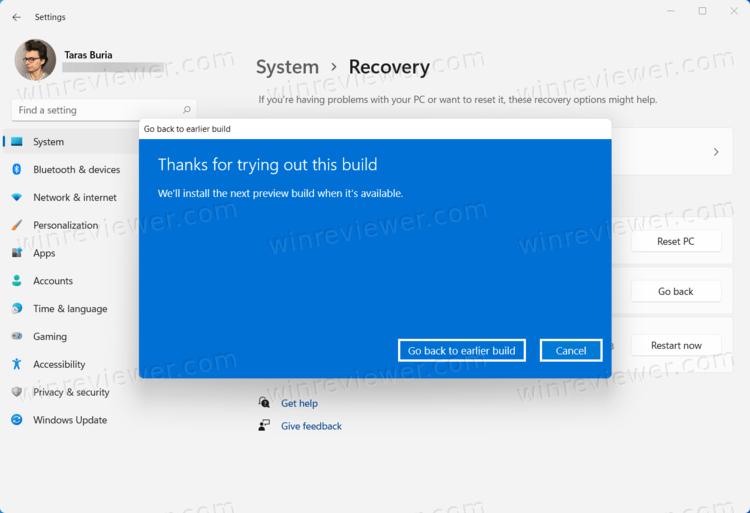 Вернуть Windows 10 из Windows 11