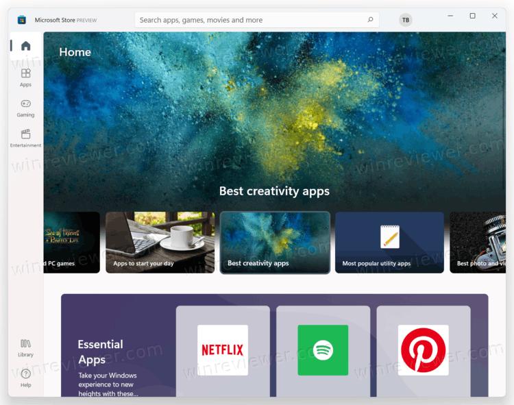 Новый Магазин Microsoft Store в Windows 11
