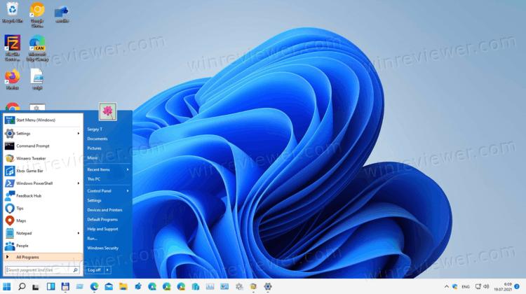 Восстановить классическое меню Пуск в Windows 11