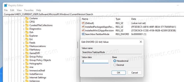 Remove Search Icon