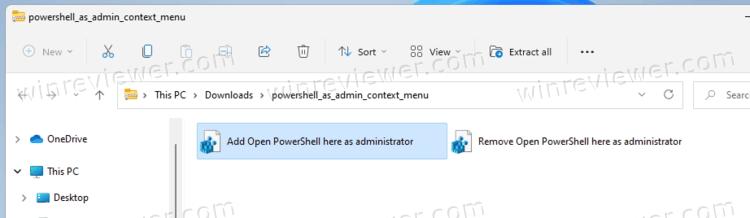 Добавить PowerShell от администратора в контекстное меню
