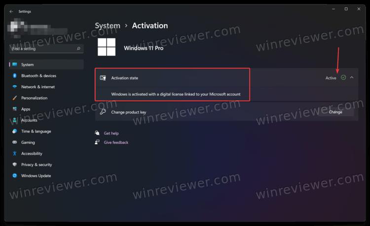 проверить статус активации в Windows 11