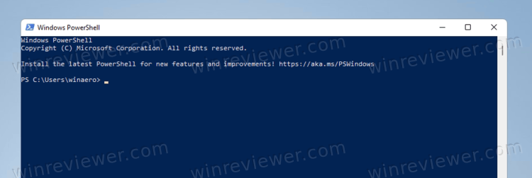 Windows 11 открыть PowerShell