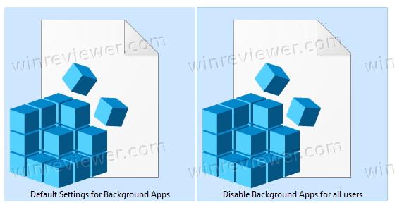 Файлы реестра для отключения фонового режима для всех пользователей Windows 11 приложений в фоновом режиме