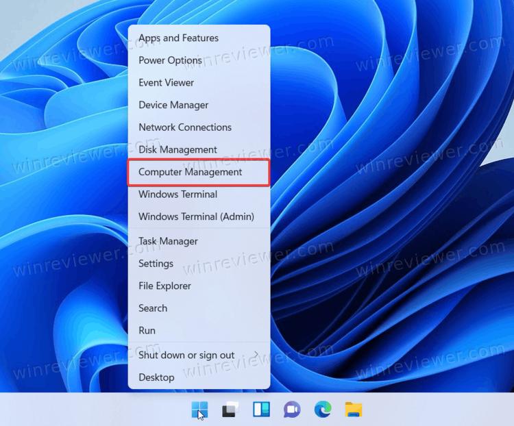 Windows 11 открыть управление компьютером