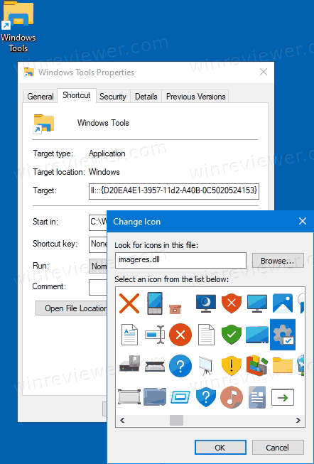 Значок Windows Tools
