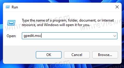 Выполнить Gpedit в Windows 11